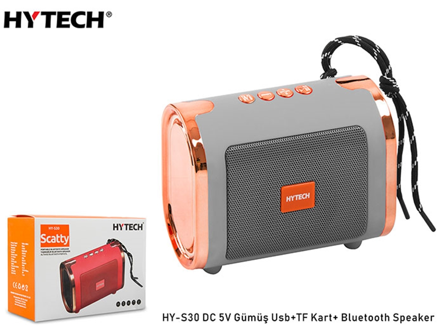 Hytech HY-S30 Gümüş Usb+TF Kart DC 5V Bluetooth Speaker - 8680096085604