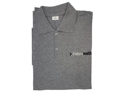 Faturamatik Bay / Bayan M Beden Gri Tişört