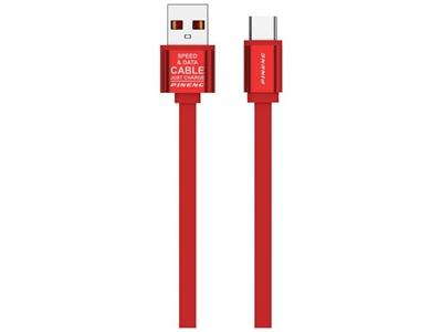 Pineng PN-311 Yüksek Hızlı Type-C 1 Metre Data Şarj Kablosu Kırmızı