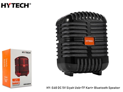 Hytech HY-S40 Siyah Usb+TF Kart DC 5V Bluetooth Speaker