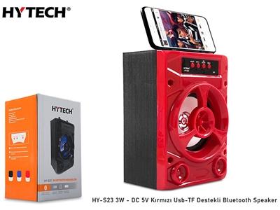 Hytech HY-S23 Kırmızı 3W - DC 5V Bluetooth Speaker