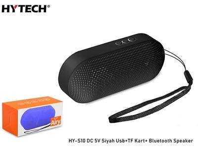 Hytech HY-S10 DC 5V Bluetooth Speaker Siyah Usb+TF Kart