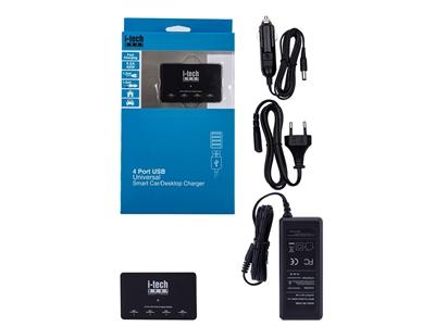 i-Tech Gear Smart Power / 9.6A 48W  / Hızlı Şarj Aleti / Siyah